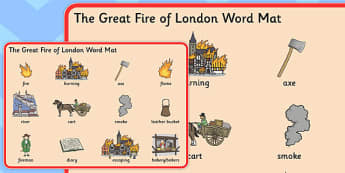 The Great Fire of London Pre-Teaching Word Mat - great fire of london, pre-teaching, word mat