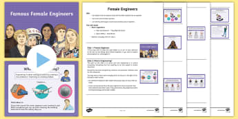 Female Engineers Assembly Script and PowerPoint Assembly Pack - women, international, astronaut, STEM, science, physics, IT, computer, careers