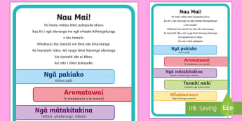 ECE portfolio whakataki Coversheet Te Reo Māori - New Zealand Back to School, portfolio, introduction, coversheet, narrative, children's work, obser