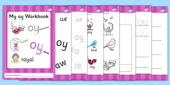 Phase 5 oy Grapheme Workbook - phase five, graphemes, literacy