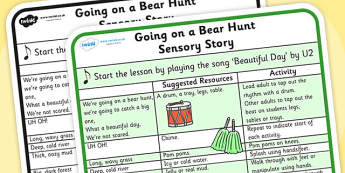 We're Going on a Bear Hunt Sensory Story - were going on a bear hunt, were going on a bear hunt sensory guide, were going on a bear hunt lesson plan, sen