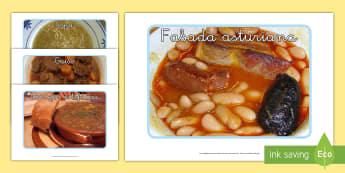 Fotos de exposición: La comida de invierno - ES Invierno (Winter Spain), comida, comer, comida temporada, decorar la clase, mural,Spanish