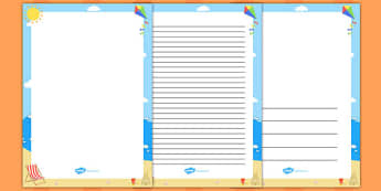 Seaside Scene Page Border - seaside, scene, page border, border