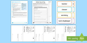 Workers' Day 1st May Lesson Teaching Pack - South Africa, workers day, plans, resources, activities, teachers, staff, workers, jobs, appreciatio
