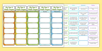 Year 4 Maths Assessment Bookmarks and Cut Outs - math, assessment