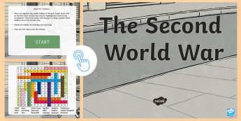 Second World War Interactive Word Search - CfE Social Studies resources, interactive, world war 2, word search, key words, vocabulary, people p