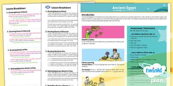 PlanIt - Art UKS2 - Ancient Egypt Planning Overview CfE - planit, art, planning, overview, cfe