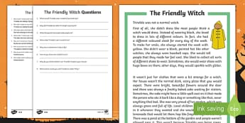 The Friendly Witch Differentiated Reading Comprehension Activity