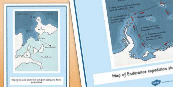 Tom Crean Expedition Maps Display Cards - Tom Crean, Irish History, South Pole, Antarctica, display, maps