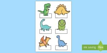 Etiquetas editables: Dinosaurios - Dinosaurios, pre-historia, dinos, tyranosaurio, estegosaurio, triceratops, proyectos, aprendizaje ba - Dinosaurios, pre-historia, dinos, tyranosaurio, estegosaurio, triceratops, proyectos, aprendizaje ba