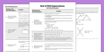 End of KS2 Expectations Maths - KS2, Key Stage 2, Maths, expectations, national curriculum assessment