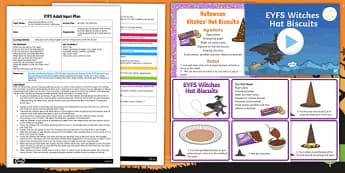 EYFS Witches' Hats Biscuits Adult Input Plan and Resource Pack