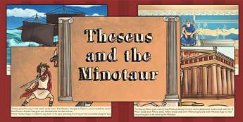 Theseus and the Minotaur Story - theseus, minotaur, stories