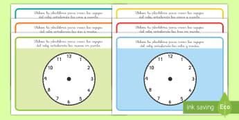 Tapiz de plastilina: Decir la hora - decir la hora, la hora, el tiempo, el reloj, relojes, plastilina, tapiz de plastilina, agujas del re