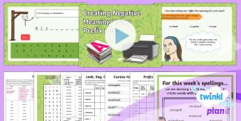 PlanIt Y3 Term 2A W4: Creating Negative Meanings Using Prefix mis- Spelling Pack - Spellings Year 3, Y3,  SPaG, GPS, spelling, packs, weeks, weekly, prefix, prefixes, mis,