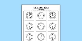O'clock and Half Past Times Activity Sheet Arabic Translation - arabic, o'clock, half past, times, activity, worksheet
