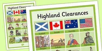 The Highland Clearances Key Vocabulary Mat - highland clearances