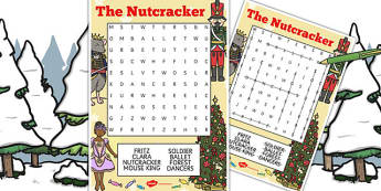 The Nutcracker Wordsearch - nutcracker, wordsearch, ballet, story