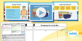 PlanIt - DT KS1 - The Lighthouse Keeper's Lunch Box Lesson 3: Exploring Materials Lesson Pack