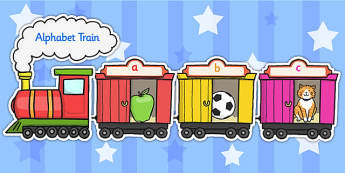 Alphabet Train - alphabet, a-z, alphabet display, train, az train