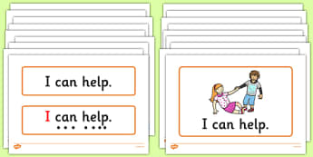 People Who Help Us Simple Sentence Cards - Sentences, sentence cards, reading, phonics, people who help us, eyfs, literacy