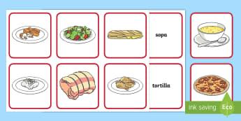 Tabla de emparejar: La comida - comer sano, comida sana, comer saludable, comida saludable, fruta, verdura, dieta saludable, dieta s