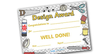 Design Award Certificate - design award certificate, design, designing, draw, creative, creativity, technology