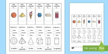 Activité de support visuel : Les propriétés des formes en 3D - propriétés des formes en 3D, activité de support visuel, formes en 3D, formes, maths, mathématiq