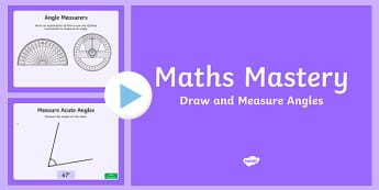 Year 5 Geometry Shape Draw and Measure Angles Maths Mastery Activities PowerPoint