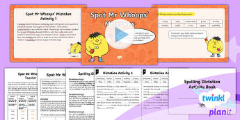 PlanIt Y3 Term 1B Assess and Review Spelling Pack - Spelling Packs, spelling, assess, review, assessment, half term, SPaG, Year 3, Y3, test, dictation,