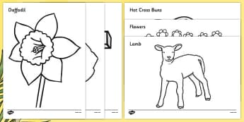 Easter Coloring Sheets - Easter, coloring poster, coloring, fine motor skills, activity, Easter, bible, egg, Jesus, cross, Easter Sunday, bunny, chocolate, hot cross buns