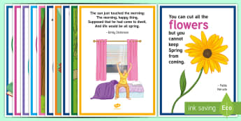 Spring Quotes A4 Display Poster - Spring, Easter, Care Homes, Elderly Care, Ideas, Support, Activity Co-ordinators, Season, Posters, Q