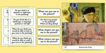 Vincent Van Gogh Photopack and Prompt Questions - vincent van gogh