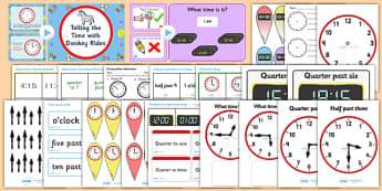 Time and Clock Reading Teaching Resource Pack - time, clock, reading time, clock reading, teaching resource pack, time reading resource pack, clocks