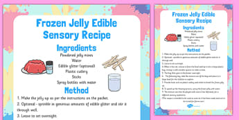 Frozen Jelly Edible Sensory Recipe - frozen, jelly, edible, sensory, recipe