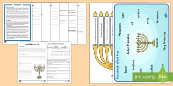 Hanukkah Lesson Teaching Pack - Request KS2, Hanukkah, Jewish, festival, Judaism, celebration,