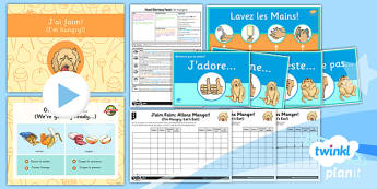 PlanIt - French Year 3 - Food Glorious Food Lesson 6: I'm Hungry Lesson Pack - french, languages, food, tasting, evaluation