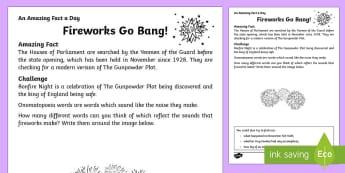Fireworks Go Bang Activity Sheet