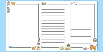 Page Borders to Support Teaching on The Lighthouse Keepers Lunch - The Lightkeeper's Lunch, Ronda Armitage, Mr Grinling, Mrs Grinling, seagulls, seaside, lunch, Hamish, resources, sandwhich, story, story book, story book resources, story sequencing,