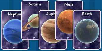 The Planets Display Posters Detailed Images - planet, space