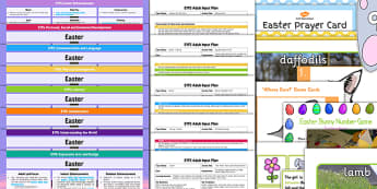 EYFS Easter Themed Lesson Plan Enhancement Ideas and Resources Pack - easter