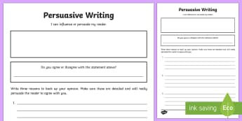 Blank Persuasive Writing Template - CfE Writing,persuasive writing,argumentative writing ,LIT 2-29a ,ENG 2-27a ,Scottish, writing tool,