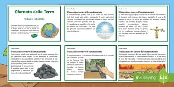 Giornata della Terra Schede Dibattito Attività - giornata, della, terra, schede, dibattito, summit, vertice, parigi, riscaldamento, globale, italiano