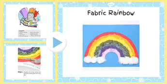Fabric Rainbow Craft Instructions PowerPoint - craft, powerpoint, rainbow, instructions, fabric