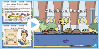 Medieval Banquet Information PowerPoint - King in a car park, Leicester, history, ks2, castles, kings, queens, richard III