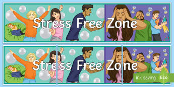 Stress Free Zone Banner - Key Stage 4 Entry Level
