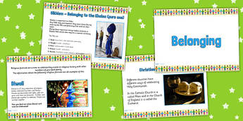 Belonging PowerPoint - religion, re, belonging, clubs