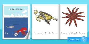 Under the Sea Emergent Reader eBook - Ocean, Sea, Beach, Emergent Reader, ebook, Ocean ebook, Ocean Emergent reader, Sea ebook, sea emerge
