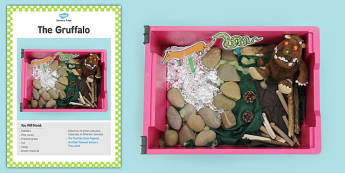 The Gruffalo Sensory Tray Card - gruffalo, sensory tray card
