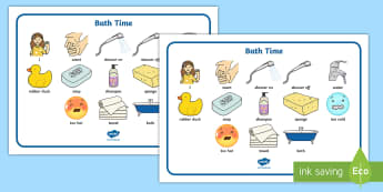 Bath Time Communication Board Visual Aid - ASD, autism, early years, low functioning, PECS, communication board, functional communication, bath